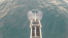 Anchor on a navigating boat  - stock footage
