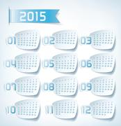 2015 yearly calendar Stock Illustration