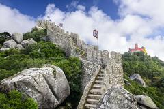 Moorish castle of sintra Stock Photos