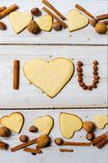 """i love you"" sentence arranged with cookies and nuts no. 10 - stock photo"