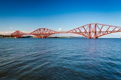 Firth of forth bridge in sunny day Stock Photos