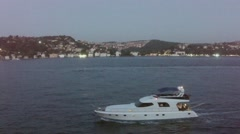 yatch in Bosporus - stock footage