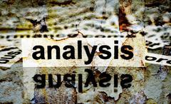 Analysis grunge concept Stock Photos