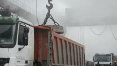 Steel works. Cast iron loading. This video is also in my portfolio in the HD Stock Footage
