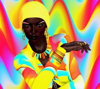Colorful Fashion and Beauty Look Stock Illustration