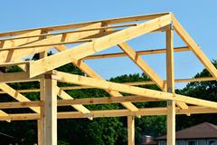 Rafters - stock photo