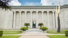 Museum of Fine Arts Houston TX Main Building Stock Footage