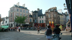 Place de Lices - Rennes France Stock Footage