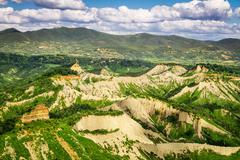 View of the mountainous terrain in tuscany Stock Photos
