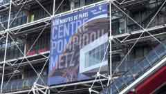 Pompidou Center different angles, Paris - 1080p Stock Footage