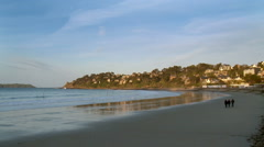 Beach - Perros-Guirec, France Stock Footage