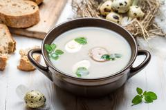 country ingredients for homemade sour soup - stock photo