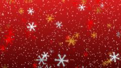 Animated Snowflakes Festive Seasonal Background Stock Footage