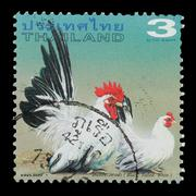 thailand stamp - stock photo