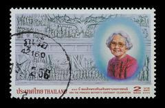 thailand stamp - stock photo