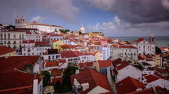 Lisbon, Portugal City View - stock footage