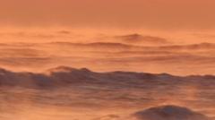 Foggy Surf at Sunrise Stock Footage