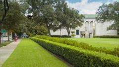 Museum of Fine Arts Houston TX Main Building Wide Stock Footage