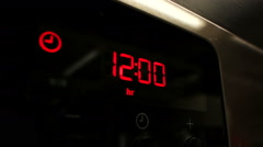 Oven clock 12:00 Stock Footage