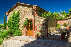 Summer cottage agriturismo in tuscany, italy Stock Photos