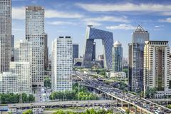 Bejing, china financial district Stock Photos