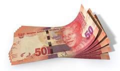 Rand bank notes spread Stock Illustration