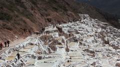 Salinas de Maras - Sacred Valley, Peru - stock footage