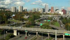 Aerial Shot of Portland, Oregon Stock Footage