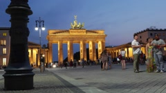 TIMELAPSE BERLIN BRANDENBURGER TOR Stock Footage
