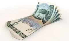 kronor bank notes spread - stock illustration