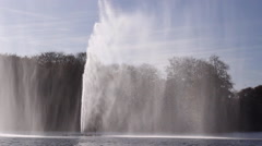 Windy  waterfall big splash fountain in river  Malmo Sweden Stock Footage