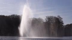 fountain in river windy  waterfall big splash  Malmo Sweden Stock Footage