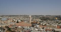 Jerusalem - Old City Skyline - 24P - Cinematic DCI 4K Stock Footage