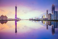 guangzhou, china city skyline - stock photo