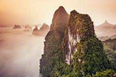 karst mountains of china - stock photo
