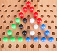 Chinese wooden board game Stock Photos