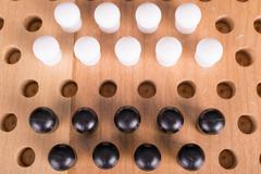 chinese checkers wooden board game - stock photo