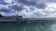 North sea ferry service Stock Footage