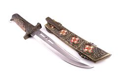 Medieval dagger with a  thin blade cross section Stock Photos