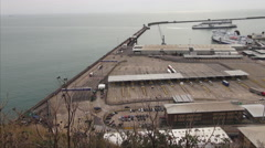 The Port of Dover from above Stock Footage