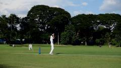 Cricket Dismissal Stock Footage