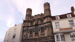 Cathedral gate Hotel at Canterbury cathedral Stock Footage