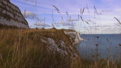 The White cliffs of Dover on a sunny day Stock Footage
