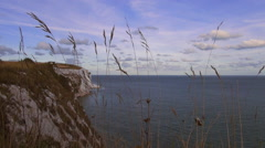 UK coastline at the white cliffs of Dover Stock Footage