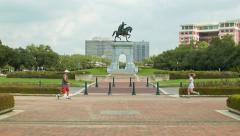 Hermann Park Recreational Activities in Houston TX Stock Footage
