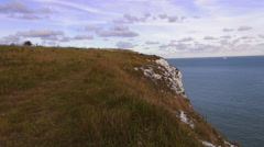 Wonderful nature at the UK coast - The white cliffs of Dover Stock Footage