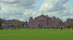 Museumplein in Amsterdam, Holland, 4k UHD Stock Footage