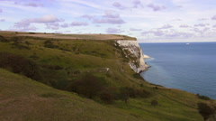Great view on the white cliffs of Dover Stock Footage