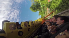 Extreme carousel in amusement park Stock Footage