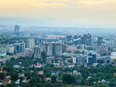 Night panorama. Almaty, Kazakhstan. 640x480 Stock Footage